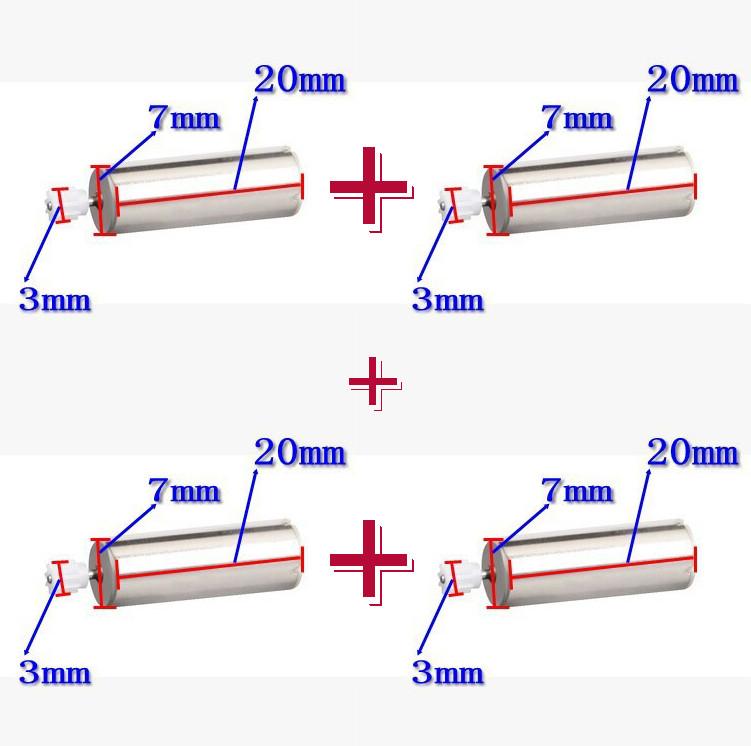 Мотор двигатель для квадрокоптера Syma X5, X5-1, X5C, X5C-1, X5-A, X5-A1  (2A + 2B = 4 шт.)