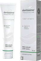 DENTISSIMO Зубна паста Bio-Natural With Herbs, 75 мл 22362