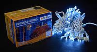 Светодиодная гирлянда нить DELUX String Flash 10м 100 LED белый/белый, фото 1