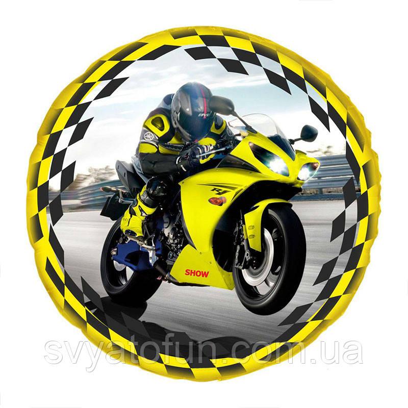 "Фольгований куля ""Мотоцикл"" 18""(45см) AS-125 ArtShow"