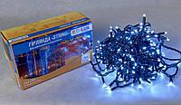 Светодиодная гирлянда нить DELUX String 20м 200 LED белый/черный