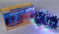 Светодиодная гирлянда нить DELUX String Flash 20м 200 LED мульти/черный