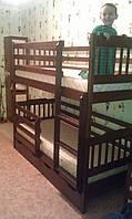 Кровать двухъярусная Ева с защитными бортами и ящиками
