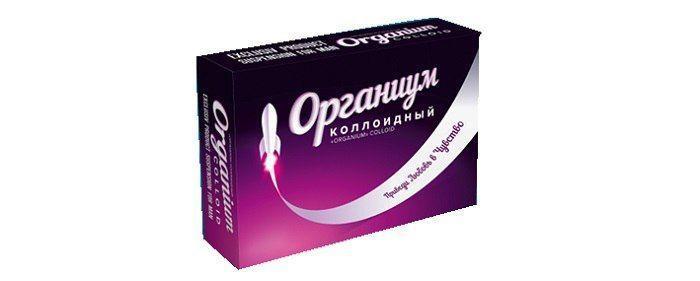Препарат для потенции и эрекции Органиум коллоидный