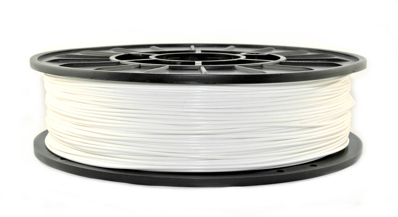 Нить PLA (ПЛА) пластик для 3D печати, Белый (1.75 мм/0.75 кг)