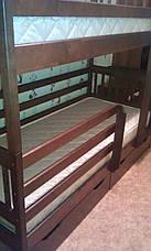 Кровать двухъярусная Ева с защитными бортами и ящиками, фото 3