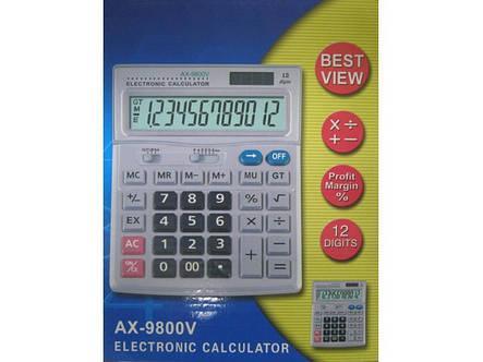Калькулятор настольный AX 9800V, фото 2