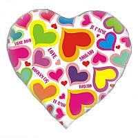 """Фольгированный шар сердце Любовь 18"""" AS-117 ArtShow"""