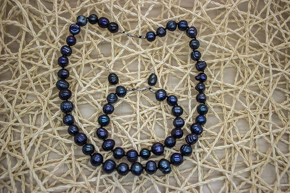 Роскошные ожерелья из натурального жемчуга
