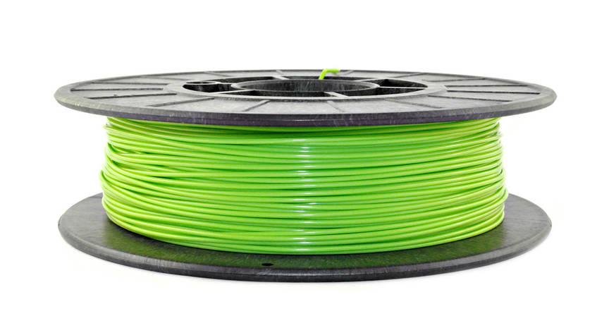 Нить PLA (ПЛА) пластик для 3D печати, Салатовый (1.75 мм/0.5 кг), фото 2