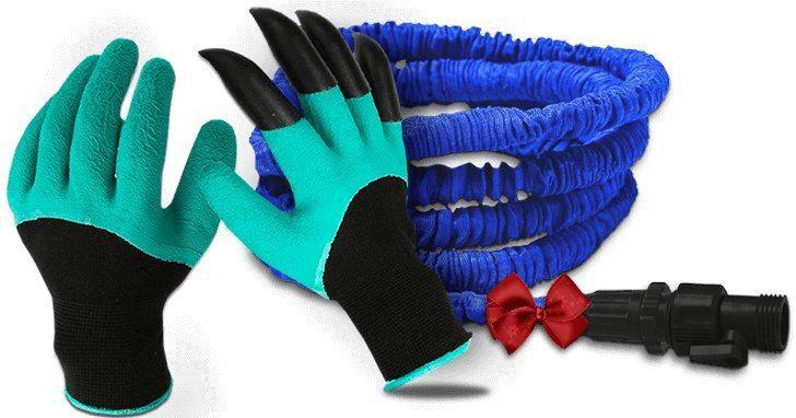 Садовая перчатка Garden Genie Gloves + Шланг X-Hose