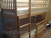 Кровать двухъярусная Ева с защитными бортами и ящиками, фото 2