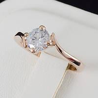 Чудесное кольцо с кристаллами Swarovski, покрытое слоями золота 0156