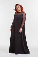 Модное батальное платье длинною в пол