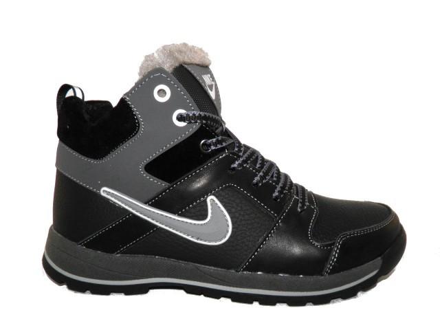 Ботинки подростковые Nike ( Реплика) 30 серый