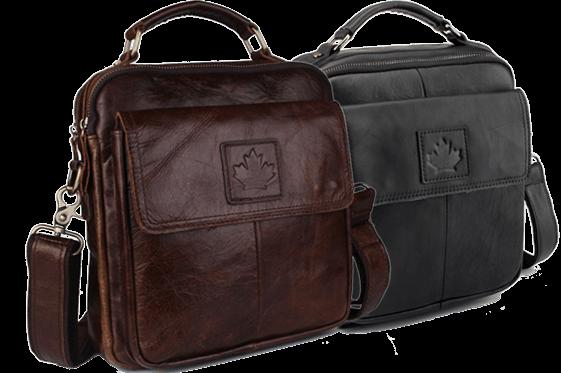 Стильные мужские кожаные сумки CANADA