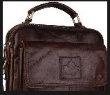 Стильные мужские кожаные сумки CANADA, фото 3