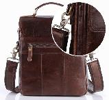 Стильные мужские кожаные сумки CANADA, фото 4