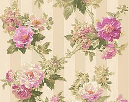 Флизелиновые обои A.S.CREATION ROMANTICA 30446-2 Разноцветные, КОД: 166033