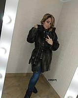 Шуба женская с капюшоном 039(37) Код:812550734