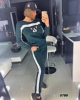 Женский спортивный костюм на флисе 0788 Дор Код:809681059, фото 1