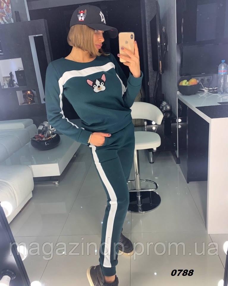Женский спортивный костюм на флисе 0788 Дор Код:809681059