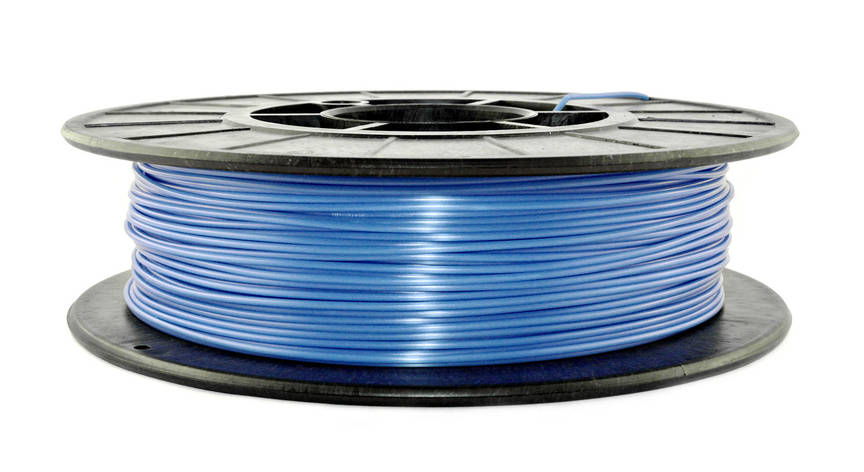 Светло-синий флюр (светоотражающий) PLA (1.75 мм/0.5 кг), фото 2