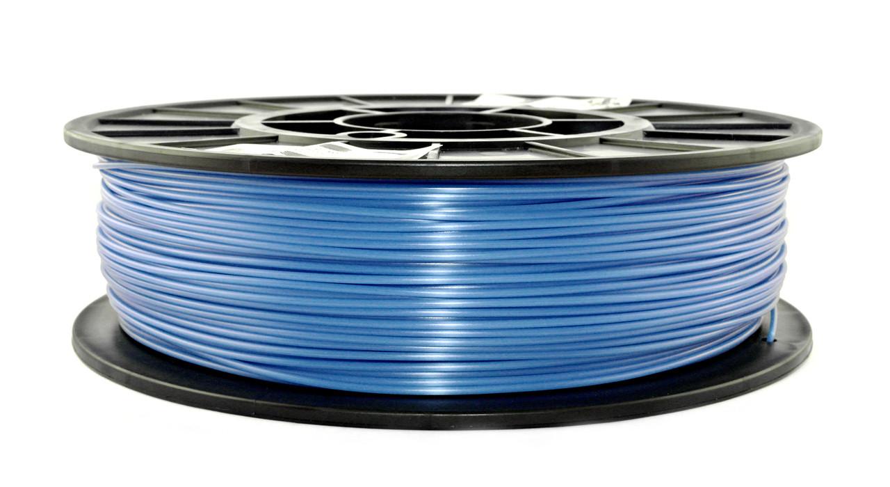 Нитка PLA (ПЛА) пластик для 3D друку, Світло-синій флюр, світловідбиваючий (1.75 мм/0.75 кг)