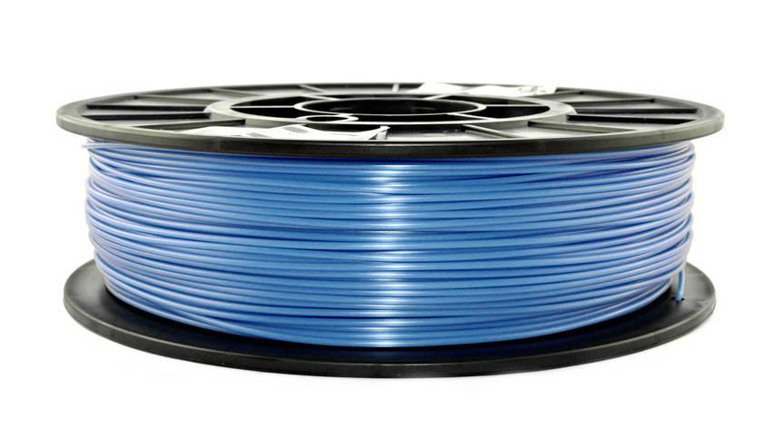 Нитка PLA (ПЛА) пластик для 3D друку, Світло-синій флюр, світловідбиваючий (1.75 мм/0.75 кг), фото 2