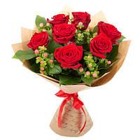 Букет красных роз «Страсть» для любимой