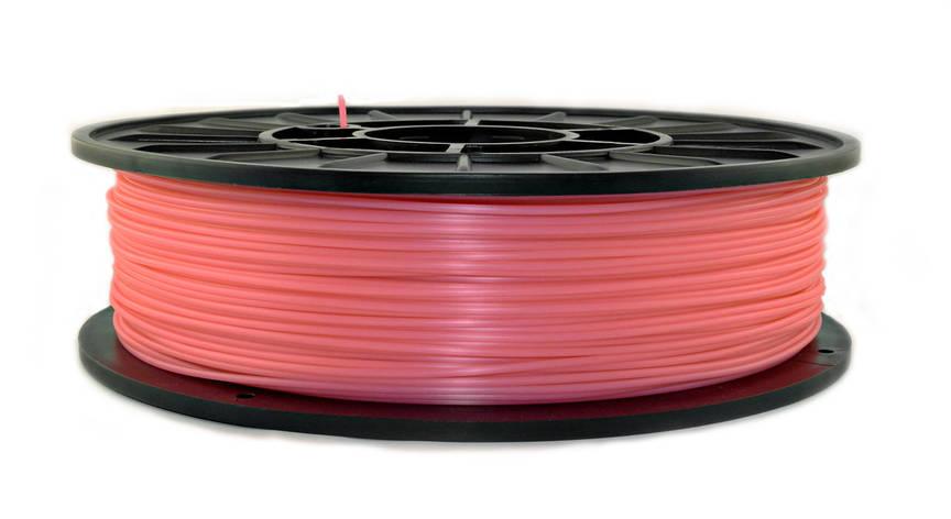 Розовый флюр (светоотражающий) PLA (1.75 мм/0.75 кг), фото 2