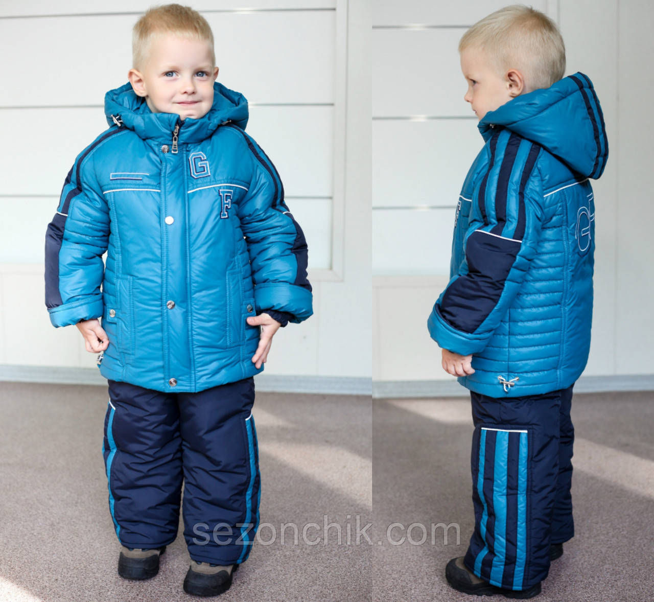 Зимние детские комбинезоны на мальчиков на подстёжке