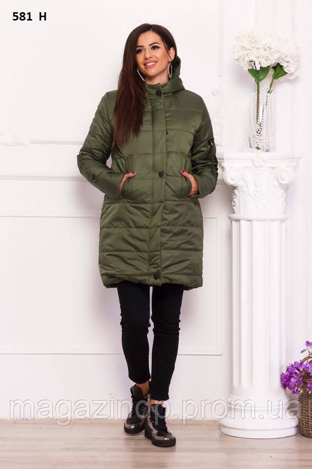 Курточка удлиненная зимняя на овчине 581  Н Код:816338037