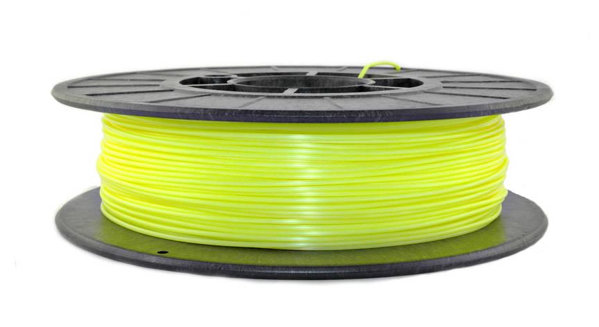 Лимонный флюр (светоотражающий) PLA (1,75 мм/0,5 кг), фото 2