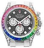 Часы Rolex White Gold Daytona Rainbow, фото 4