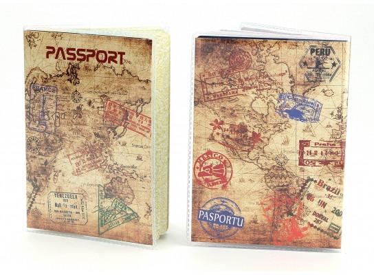 Обложка виниловая на паспорт Путешественника 157-1551475
