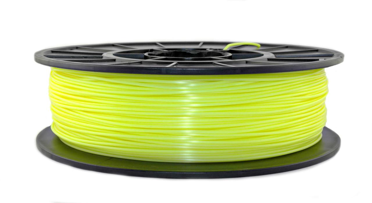 Нить PLA (ПЛА) пластик для 3D печати, Лимонный флюр, светоотражающий (1.75 мм/0.75 кг)