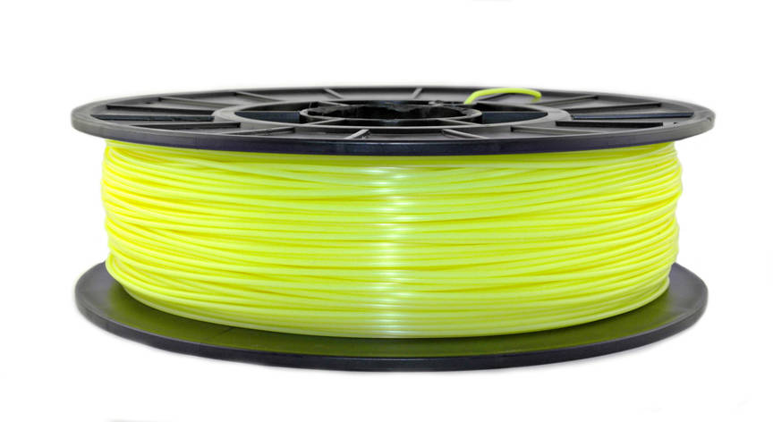 Лимонный флюр (светоотражающий)  PLA (1,75 мм/0,75 кг), фото 2