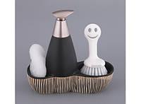 Набор для мыла с губкой и щеткой Классика 95-932446