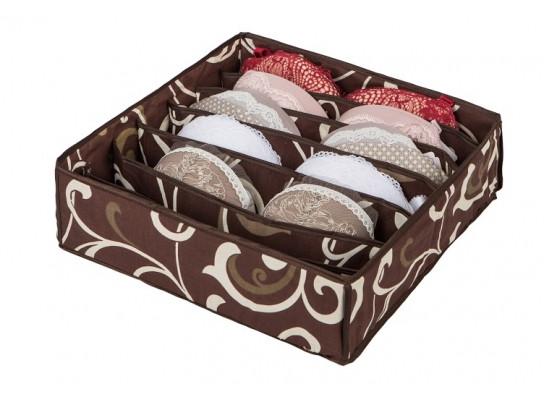 Коробочка для белья на 7 секций Горячий Шоколад 103-1022509
