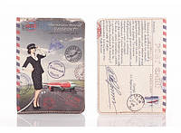 Кожаная обложка на паспорт Ukrainian tourist 156-1552515