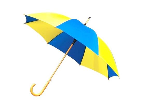 Зонт трость крючок Желто - Голубой 140-1382710