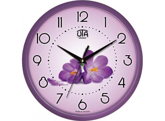 Часы настенные круглые Фиалки 110-1083228