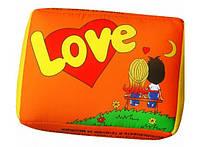 Подушка Love is оранжевая 98-9710264