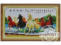 Набор для вышивки картины Лошади в реке 119х67см 373-37010674