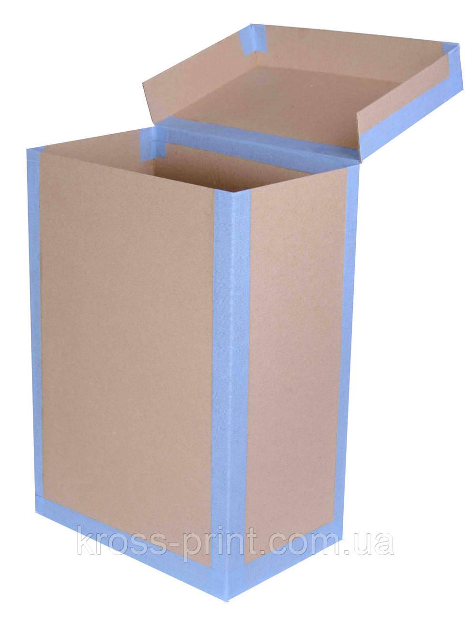 Короб архивный картонный с крышкой