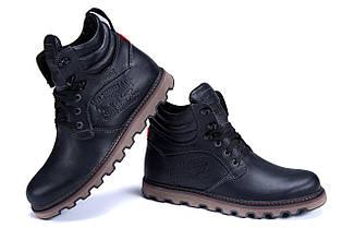 b9eacd93 Мужские зимние кожаные ботинки Levis Stage 1 Black Night (реплика), фото 2