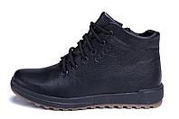 Мужские зимние кожаные ботинки  Ессо New Line (реплика)