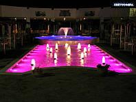 Освещение бассейнов, фонтанов, водопадов. Проектирование и монтаж.
