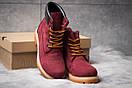 Зимние ботинки  на мехуTimberland 6 Premium Boot, бордовые (30665) размеры в наличии ► [  36 39 40  ], фото 3